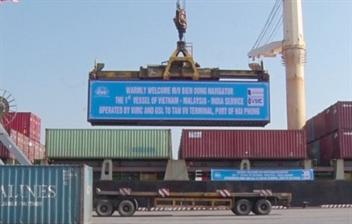 Cảng Tân Vũ đón chuyến tàu đầu tiên thuộc tuyến dịch vụ mới GKC