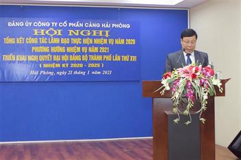 Đảng bộ Cảng Hải Phòng tổ chức Hội nghị Tổng kết công tác lãnh đạo thực hiện nhiệm vụ năm 2020