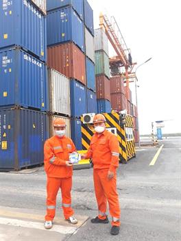 Cảng Hải Phòng tiếp tục tăng cường các biện pháp quyết liệt phòng chống dịch bệnh viêm đường hô hấp cấp do virus Covid-19 gây ra