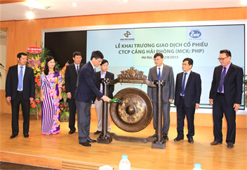 Opening of first exchange of shares of Hai Phong Port on HNX