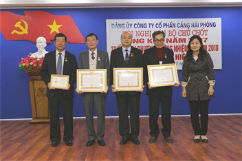 Hội nghị cán bộ chủ chốt Công ty cổ phần Cảng Hải Phòng: Tổng kết công tác năm 2017, triển khai phương hướng năm 2018  và trao Huy hiệu Đảng, Kỷ niệm chương.