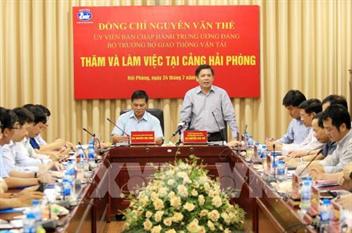 Bộ trưởng Nguyễn Văn Thể kiểm tra việc khai thác, đầu tư xây dựng giao thông tại Hải Phòng