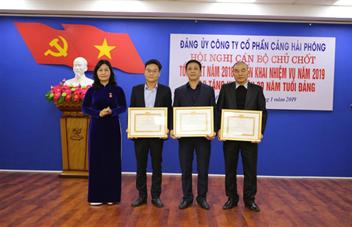 Hội nghị cán bộ chủ chốt Tổng kết công tác lãnh đạo thực hiện nhiệm vụ năm 2018, triển khai nhiệm vụ năm 2019 của Đảng bộ Cảng Hải Phòng