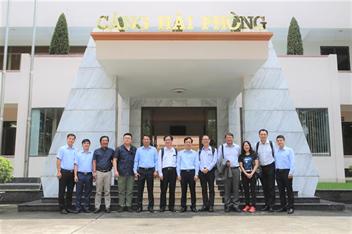 Tổng Giám đốc Hãng tàu Wan Hai thăm và làm việc tại Cảng Hải Phòng