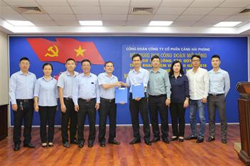Hội nghị sơ kết công tác Công đoàn và Lễ ký Quy chế phối hợp hoạt động giữa Công đoàn và Đoàn Thanh niên Cảng Hải Phòng