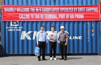 Cảng Hải Phòng đón tàu SUNNY LOTUS cập Cảng Tân Vũ