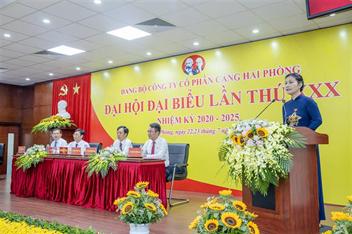 Khai mạc Đại hội đại biểu Đảng bộ Công ty cổ phần Cảng Hải Phòng lần thứ XXX, nhiệm kỳ 2020 - 2025