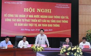 Bộ trưởng Bộ Giao thông vận tải Nguyễn Văn Thể làm việc với UBND thành phố Hải Phòng
