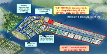 Thủ tướng Chính phủ phê duyệt chủ trương đầu tư xây dựng bến số 3, 4  Cảng cửa ngõ quốc tế Hải Phòng tại Lạch Huyện cho Công ty cổ phần Cảng Hải Phòng
