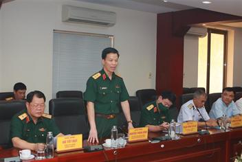 Đoàn công tác của Bộ Quốc phòng thăm và làm việc tại Cảng Hải Phòng