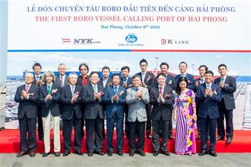 Cảng Hải Phòng tổ chức lễ kỷ niệm 5 năm đón chuyến tàu RORO chuyên tuyến đầu tiên