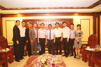 Lãnh đạo hãng tàu Wan Hai thăm và làm việc tại Cảng Hải Phòng