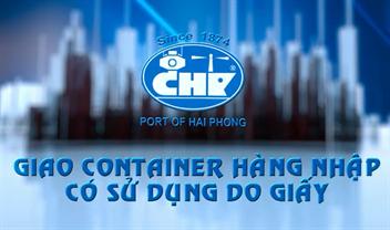 Giao Container hàng nhập sử dụng DO giấy